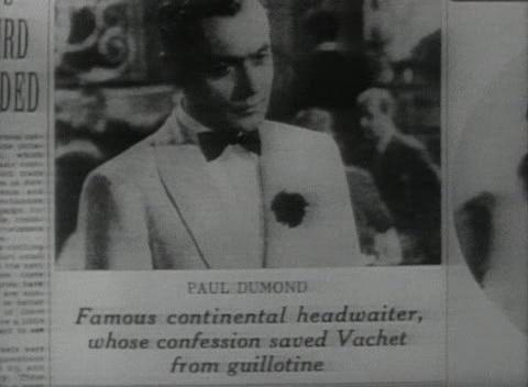 Zeitungsausschnitt Famous Continental Headwaiter
